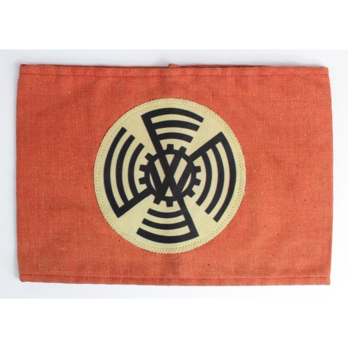 1004 - WW2 German 1933-1938 pattern VW Factory Workers Armband....