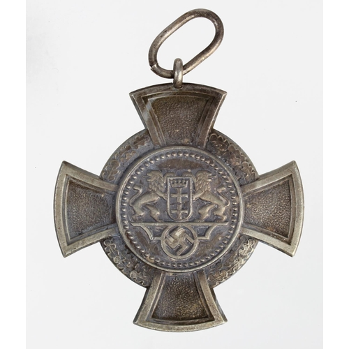 1018 - WW2 German Free State of Danzig Police Medal...