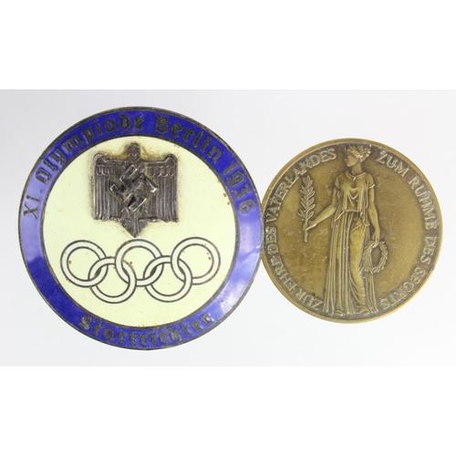 1027 - WW2 German Olympics Badge & Medallion....