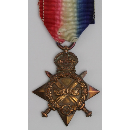 21 - 1915 Star to 13106 Pte J Bowers W.York.Regt. Killed in Action 1st July 1916 (First day Battle of the...