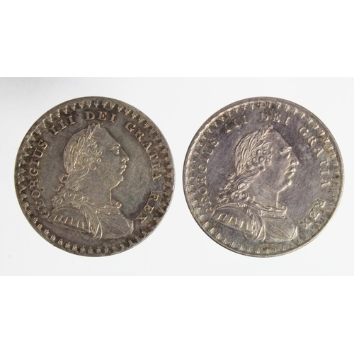 2164 - Eighteenpence Bank Tokens (2): 1811 nEF, and 1812 nEF hairlines, these both armoured bust type, and ...