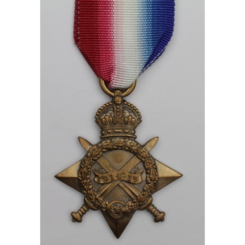 32 - 1915 Star to 32190 Gnr J F Munday RFA. Killed In Action 6/7/1915 with 9th Bty, 41st Bde. Born Sunder...