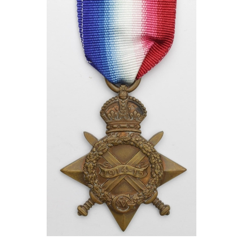 38 - 1915 Star to 6279 Pte F Gent ASC. Later Wounded In Action while serving with Lancs Fus. Born Sunderl...
