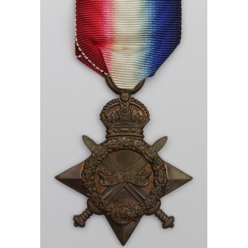 39 - 1915 Star to 7943 Pte A Robson 3rd D.Gds. Later Tank Corps as 308628. Born Bishopwearmouth, Sunderla...