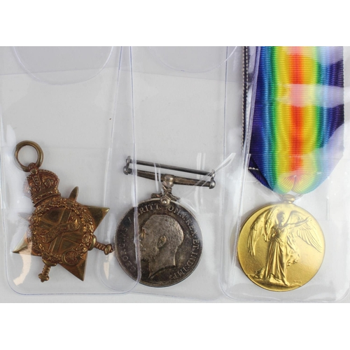 43 - 1915 Star Trio to 16792 Pte T H Foster Essex Regt. Died of Wounds 1st July 1915 with the 2nd Bn. Bor...
