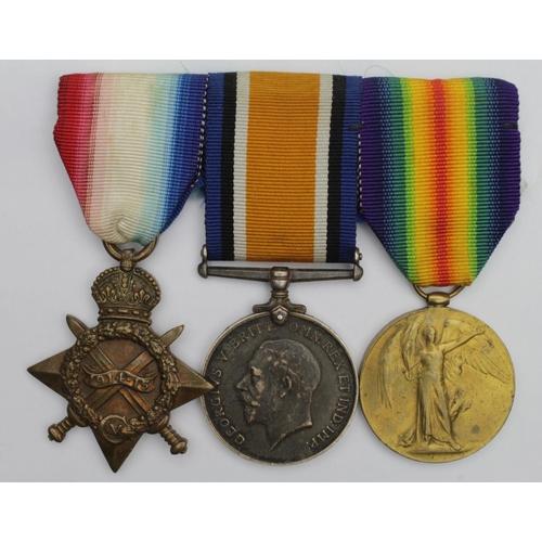 52 - 1915 Star Trio to K.10753 W Peach STO.1.RN. Born Southwark, London.   (3)...