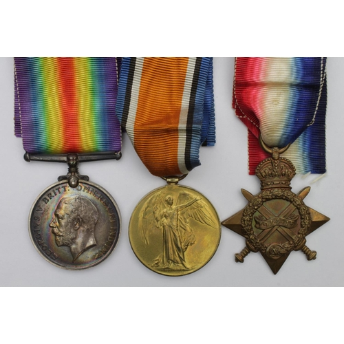 53 - 1915 Star Trio to L-5483 Pte A A Holmes 12th Lancers. Died of Wounds 17th May 1915. Born Briggate, L...