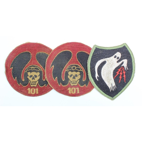 969 - Israeli 101st Fighter Squadron Patches & WW2 style 23rd HQ Company (Ghost Army)  Patch with printed ...