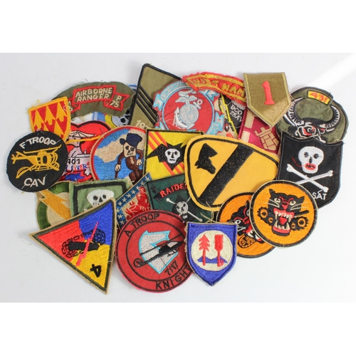 974 - Vietnam War cloth patches-Made in Vietnam found in a street market.  (25)...