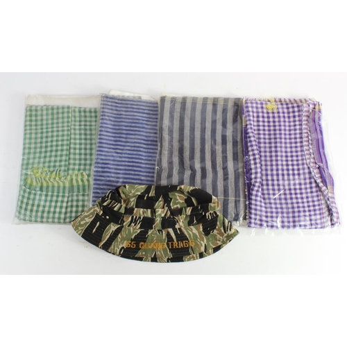 977 - Vietnam War Special Forces Delta Force Tiger Boonie Hat & a collect of 4 different Vietcong Guerilla...