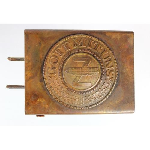 982 - WW1 German Zeppelin Brass Buckle....