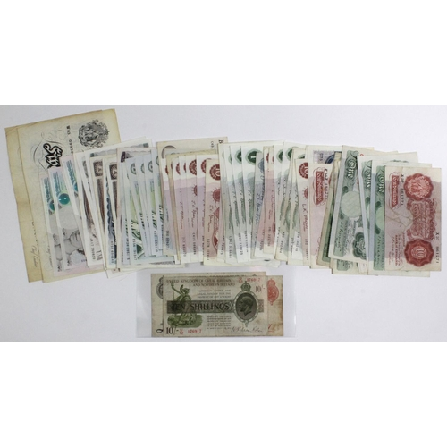 35 - Bank of England & Treasury (70), a large collection including Beale & O'Brien White 5 Pounds, Bradbu...