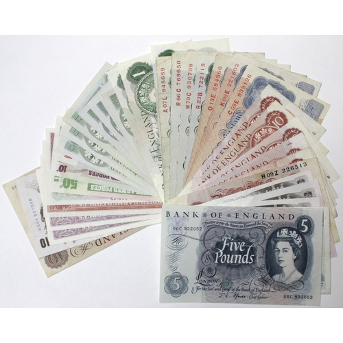 41 - Bank of England (41), a mixed collection with signatures ranging from Peppiatt to Salmon, 10 Pounds ...