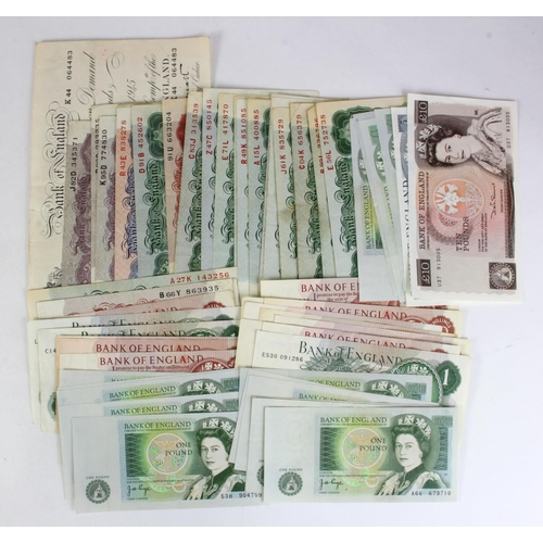 42 - Bank of England (59), a good collection comprising Peppiatt 5 Pounds white note 1945, WW2 emergency ...