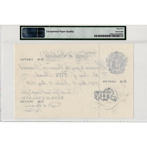 50 - Beale 5 Pounds dated 17th May 1949, serial N38 089789, (B270, Pick344) in PMG holder graded 65 EPQ G...