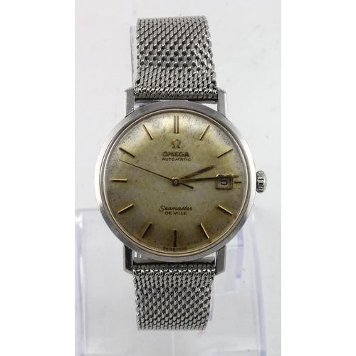 16 - Gents stainless steel cased Omega Seamaster De Ville automatic wristwatch circa 1964/65. The dial wi...