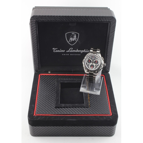 28 - Gents Conino Lamborghini chronograph wristwatch with box, paperwork and tag still attached