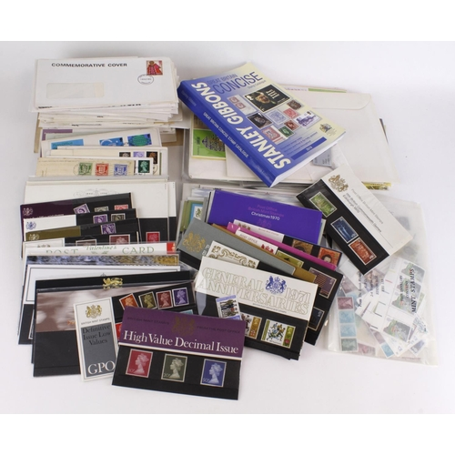 24 - GB - large range of material in green crate, inc Post Office 'Smiliers' sheets SG LS2 x1, and LS3 x3...