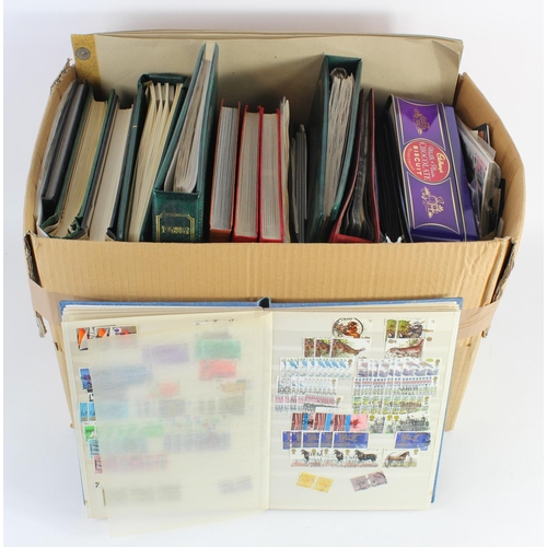 26 - GB - large varied lot of stockbooks / albums, album pages in folders and loose. Better material in L...