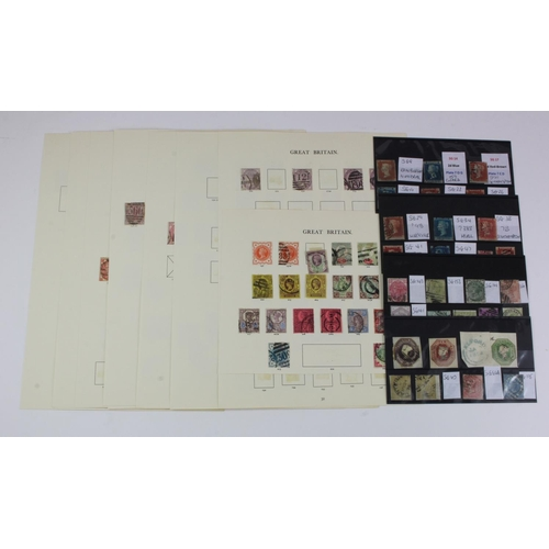 33 - GB - QV surface printed range on picked album pages, but still with useful plate numbers. Plus a few...
