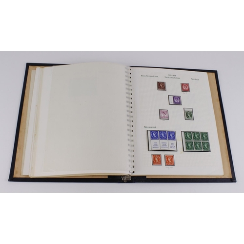 54 - GB black album with 1937-1970 stamps, mostly mint, noted good range GVI and Wilding sideways and inv...