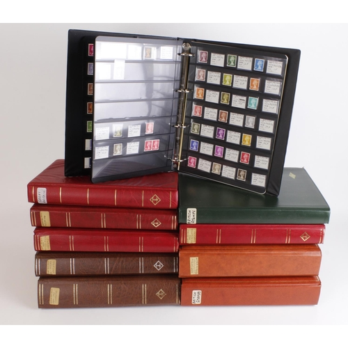 58 - GB decimals unmounted mint collection in 10 volumes (luxury stockbooks and Hagner sheets) including ...