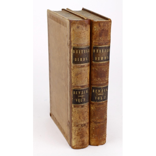 646 - Bewick (Thomas). A History of British Birds, 2 volumes, published Newcastle, J. Blackwell, 1847, eng...