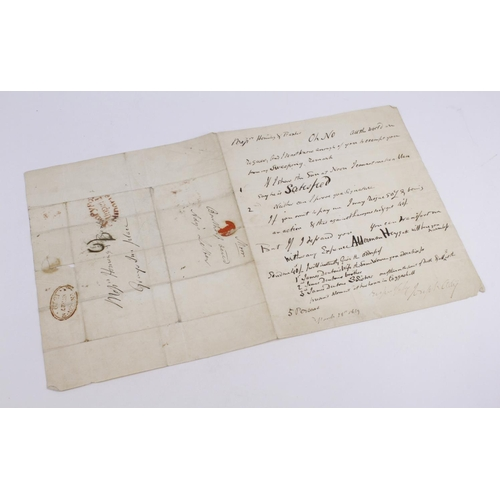 659 - Ady (Joseph 1770-1852). An original manuscript letter signed by Joseph Ady, dated March 28th 1829, 1...