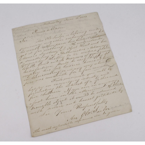 674 - Barker (Matthew Henry). An original 19th Century manuscript document, dated 11th June 1823, signed '...