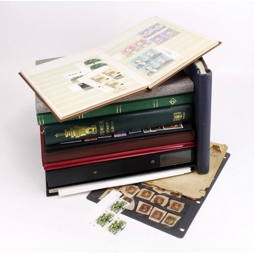 12 - GB - box of various albums / stockbooks and stock sheets. Victoria to Modern, with main value in Unm...