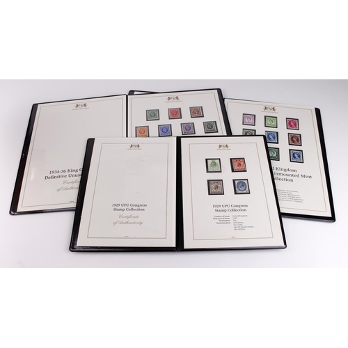 22 - GB - Harrington & Byrne investment portfolio luxury presentation books with unmounted mint 1929 UPU,...
