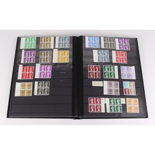 28 - GB - old stockbook with a definitive collection, 2 sets of Wildings (unchecked) mm. pre decimal and ...