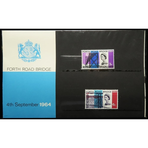 3 - GB - 1964 Opening of Forth Road Bridge, Presentation Pack, cat £325...