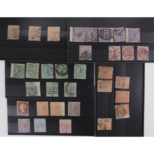 45 - GB - QV various on stockcards, mostly surface printed, mint and used, to 1/- values. High Cat Value....