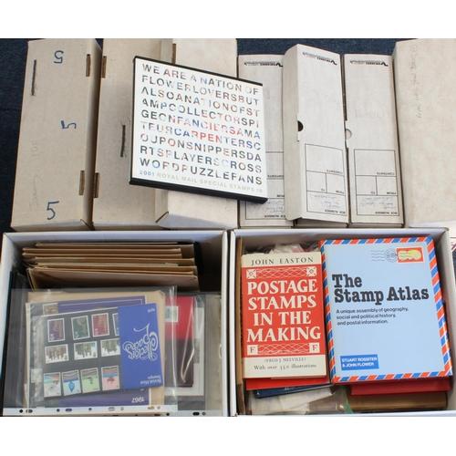 55 - GB + Channel Islands - a massive original collection. GB includes UM Commemoratives, Booklets, hard ...