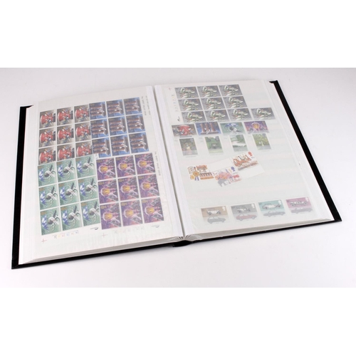 8 - GB - black stockbook of unmounted mint 1980's Commemoratives in blocks. (Qty)...