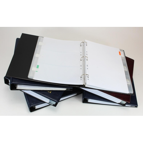 1 - Banknote albums (6), good quality albums with with sleeves and dividers, used but well cared for