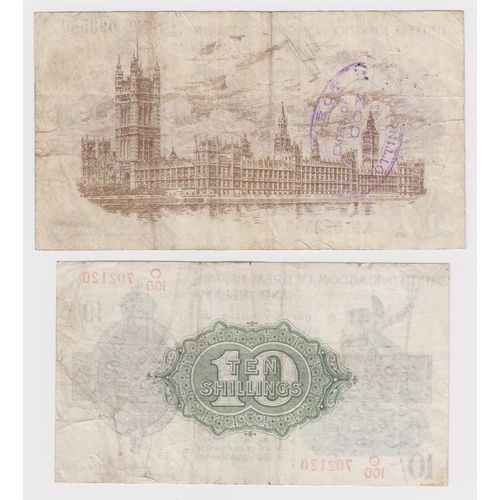 11 - Treasury (2) a pair of notes both with hard to find HIGHEST '100' prefixes, Bradbury 1 Pound issued ...