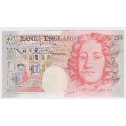 18 - Bailey 50 Pounds issued 2006, serial M25 016008 (B404, Pick393a) good EF