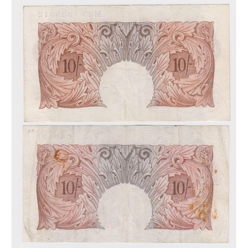 25 - Bank of England (3), Beale 5 Pounds dated 9th November 1949 serial O90 086722 (B270), Mahon 10 Shill...