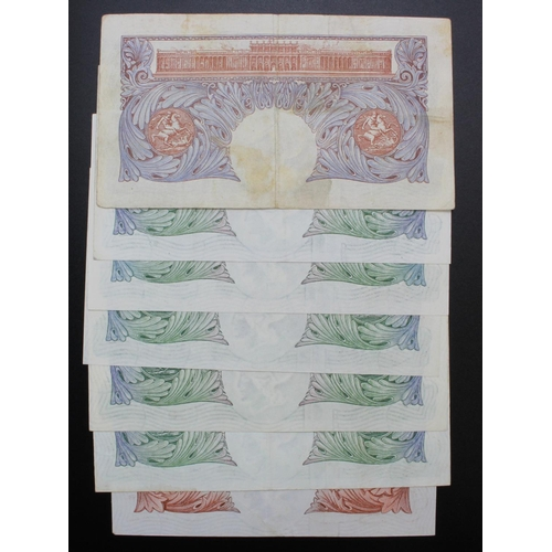 33 - Bank of England (7), a set of REPLACEMENT notes, signed Peppiatt, Beale & O'Brien, Peppiatt 1 Pound ...