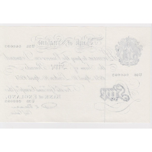 38 - Beale 5 Pounds dated 10th April 1951, serial U35 066093, a consecutively numbered note to the previo...