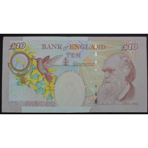 45 - ERROR Cleland 10 Pounds issued 2015, missing the last 4 digits from top left serial number, serial M...