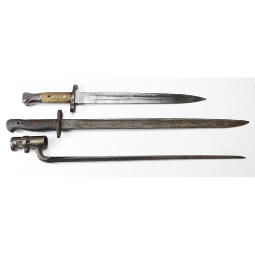 12 - Bayonets: British Bayonets without scabbards. 1) PO7 by Wilkinson dated 11.17 (Nov: 1917). 2) Patter...