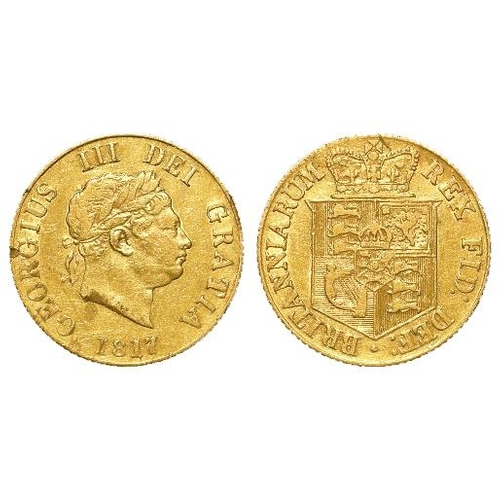 1237 - Half Sovereign 1817 nVF light scuff and edge nick....
