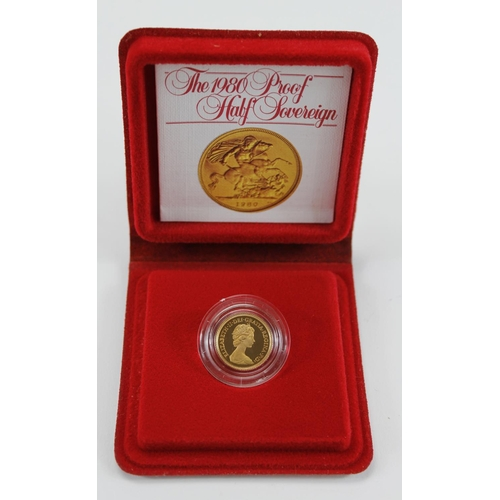1240 - Half Sovereign 1980 Proof FDC boxed as issued...