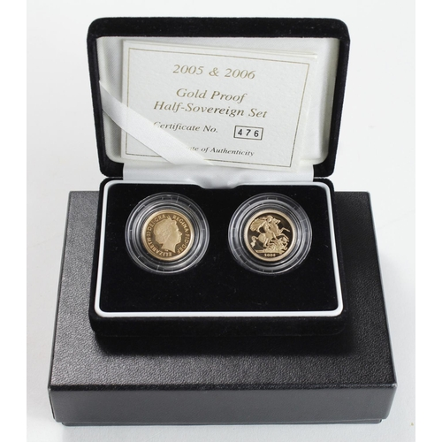 1241 - Half Sovereign two-coin set 2005 & 2006 Proof FDC boxed as issued
