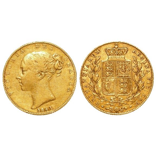 1251 - Sovereign 1841, rare date, F/GF...