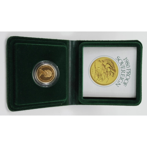 1257 - Sovereign 1980 Proof FDC boxed as issued...