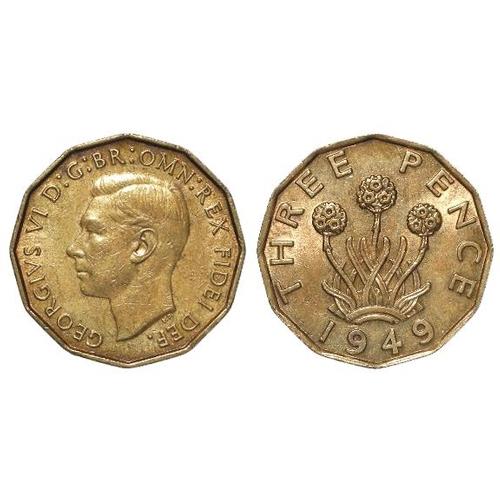 1263 - Brass Threepence 1949 EF